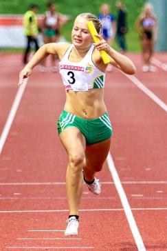 Stafett 4*100 meter - 7:a - 50.55