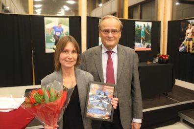 Petra och Arne Ljungqvist som var mötesordförande
