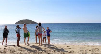 Bild från lägret på Mallorca