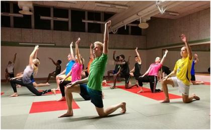 Yogapasset var helt klart roligare än det var snyggt!
