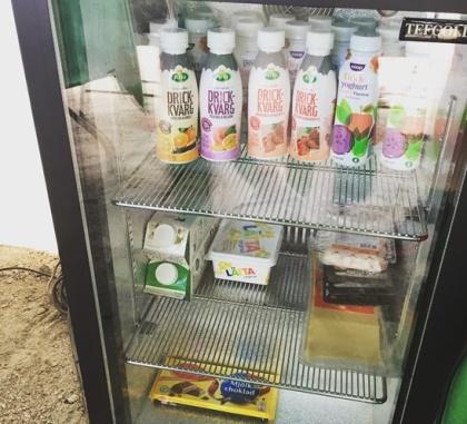 Klubbens kylskåp!