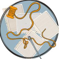 den röda tråden, struktur disposition text, ordna texten