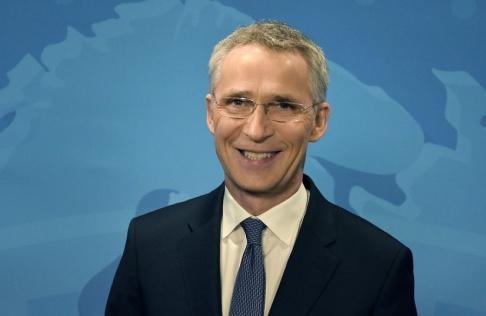 Wiktor Nummelin/TT Natos generalsekreterare Jens Stoltenberg laddar inför militäralliansens 70-årsjubileum den 4 april.
