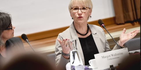 """Naina Hel n Jåma/TT Utrikesminister Margot Wallström (S) har sagt att barnen """"om möjligt"""" ska hämtas hem. Arkivbild."""