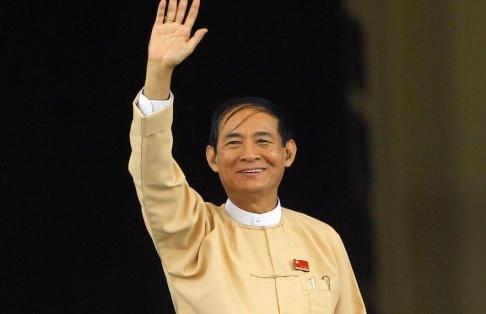 Aung Shine Oo/AP/TT Myanmars president Win Myint släpper över 9 000 fångar i samband med nyårsfirandet i landet. Arkivbild.