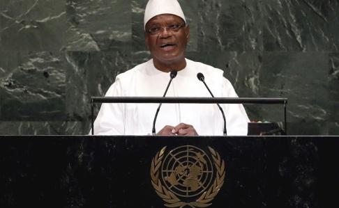 Richard Drew/AP/TT Malis president Ibrahim Boubacar Keita i FN i fjol.