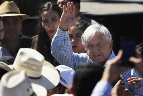 Marco Ugarte/AP/TT Mexikos president Andrés Manuel López Obrador. Arkivbild.