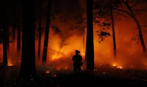 John Locher Risken för skogsbränder ökar i och med det soliga vårvädret. Arkivbild.