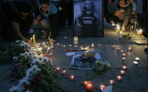 STR/AP/TT Journalisten Viktoria Marinova mördades i bulgariska Ruse i oktober förra året. Mördaren döms till 30 års fängelse. Arkivbild.