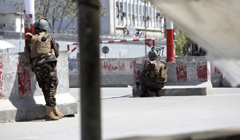 Rahmat Gul/AP/TT Afghanska säkerhetsstyrkor i Kabul. Arkivbild.