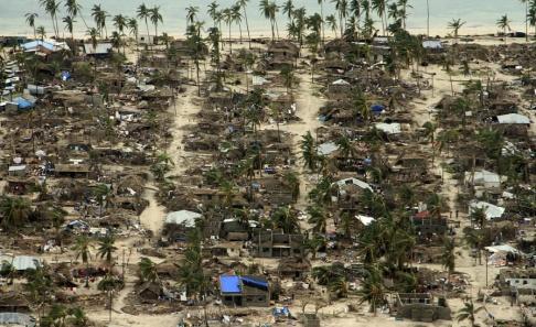 Saviano Abreu/AP/TT Förstörelsen i Macomia i Moçambique efter cyklonen Kenneth.