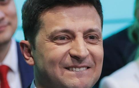 Vadim Ghirda Komikern och skådespelaren Volodymyr Zelenskyj valdes nyligen till president i Ukraina. Arkivbild.