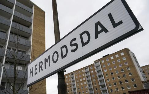 Johan Nilsson/TT Skarpt sprängmedel hittades i en fastighet på Hermodsdal i Malmö. Arkivbild.