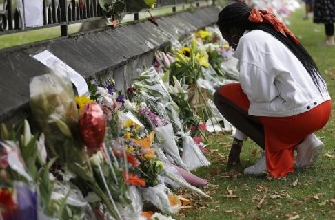 Mark Baker/AP/TT 50 människor dödades i attackerna mot två moskéer i Christchurch den 15 mars. Arkivbild.