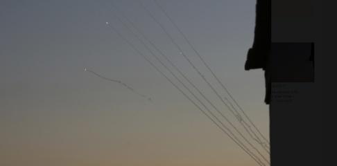 Adel Hana/AP/TT Palestinska raketer som avfyrades mot Israel i november. Arkivbild.
