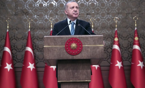 Presidential Press Service via AP Turkiets president Recep Tayyip Erdogan. Arkivbild.