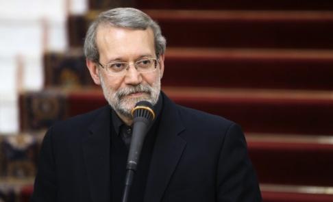 Vahid Salemi/AP/TT Ali Larijani, talman i Irans parlament. Arkivbild.