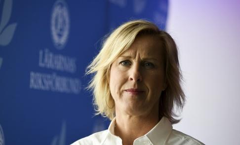 Anders Wiklund/TT Lärarnas Riksförbunds ordförande Åsa Fahlén. Arkivbild.