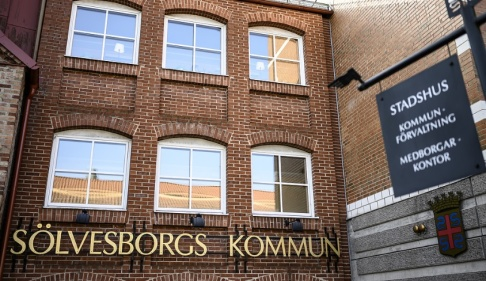 Johan Nilsson/TT Sölvesborgs stadshus. Arkivbild.