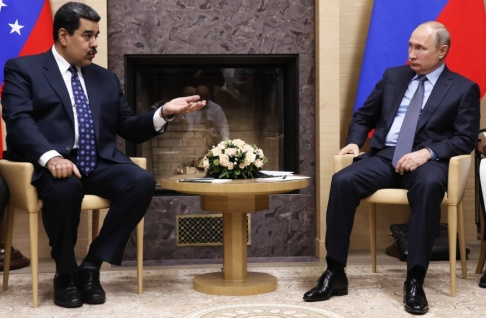 Maxim Shemetov/AP/TT Venezuelas president Nicolás Maduro under ett möte med Rysslands ledare Vladimir Putin i december 2018.