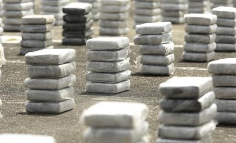 Arnulfo Franco/AP/TT Hundratals kilo kokain har beslagtagits i franska Dunkerque. Arkivbild.