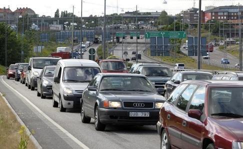 Maja Suslin / TT Trafikverket avråder bilister från att ge sig ut i trafiken. Arkivbild.