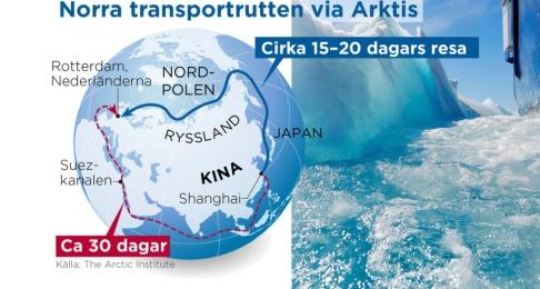 Ingela Landström/TT En snabbare sjörutt mellan Asien och Europa kan spara tid och pengar.