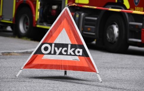 Johan Nilsson/TT Två har förts till sjukhus efter en bussolycka i Sundsvall. Arkivbild.