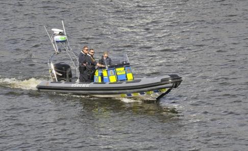 Hasse Holmberg / TT Polisen har fått rycka ut till en olycka mellan flera båtar i Solna. Arkivbild.