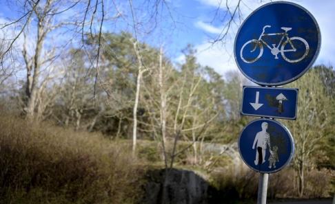 Björn Larsson Rosvall/TT Cykelvägen där en åttaårig flicka blev misshandlad och våldtagen i södra Göteborg 1995. Bilden är tagen tidigare i år.