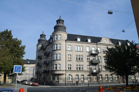 En lägenhet i Malmö på Ystadsgatan brann natten till lördag. Foto: Mapio