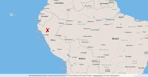 Foto: TT Skalvet inträffade i norra Peru.