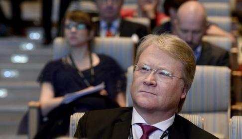 Pontus Lundahl/TT Kristdemokraternas Lars Adaktusson. Arkivbild.