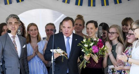 Statsminister Stefan Löfven (S) talade i Lund på Sveriges nationaldag.