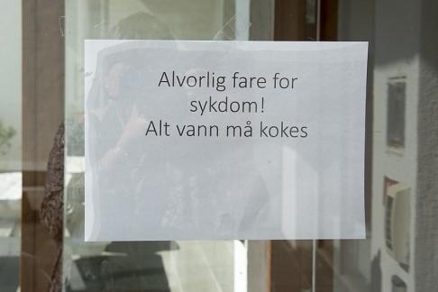 Marit Hommedal/NTB Scanpix/TT Askøys invånare uppmanas att koka allt dricksvatten.