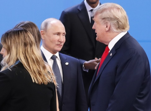 Pablo Martinez Monsivais Rysslands president Vladimir Putin och USA:s president Donald Trump. Arkivbild.