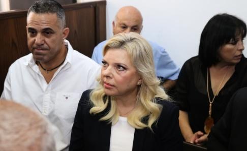 Amit Shabi/AP/TT Sara Netanyahu i rätten i oktober 2018. Arkivbild.