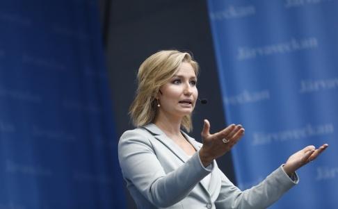 Christine Olsson/TT Ebba Busch Thor (KD) vill strama åt migrationen till nordisk genomsnittsnivå. Arkivbild.