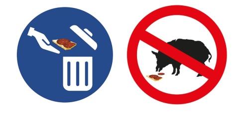Anders Humlebo/TT Nya varningsskyltar ska minska risken för att afrikansk svinpest sprids i Sverige. Bild från Jordbruksverket.