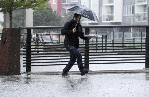 Johan Nilsson/TT Ostadigt väder med regnskurar dominerar veckan. Arkivbild