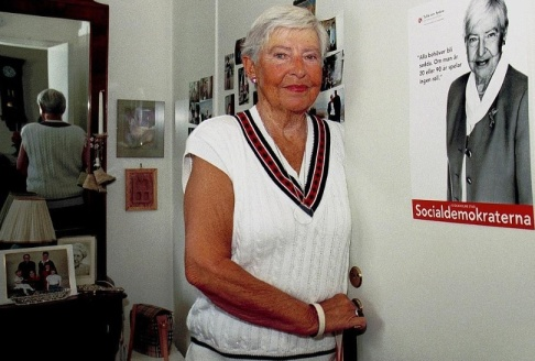 Bertil Ericson/TT Tullia von Sydow vid 80 års ålder. Arkivbild.