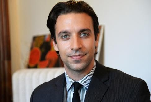 Joakim Goksör/TT Gerasimos Routzounis är analytiker på opinionsmätaren Kapa Research i Aten. Arkivbild.