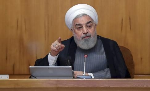 Iranian Presidency Office/AP/TT Irans president Hassan Rohani. Arkivbild.