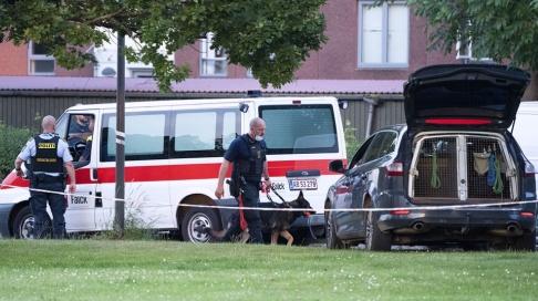 Johan Nilsson/TT Två personer har gripits misstänkta för mord i Danmark. Arkivbild från brottsplatsen.