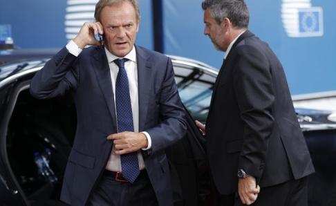 Geoffroy van der Hasselt/AP/TT EU:s permanente rådsordförande Donald Tusk. Arkivbild.