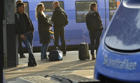 Johan Nilsson/TT Förseningarna i den skånska tågtrafiken väntas kvarstå under helgen. Arkivbild.