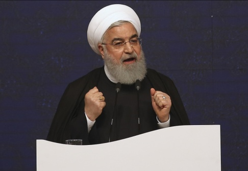 Vahid Salemi/AP/TT Irans president Hassan Rohani. Arkivbild.