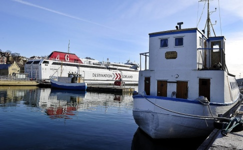 ANDERS WIKLUND / TT Kokain, som tros ha blivit över under Stockholmsveckan, hittades på en toalett i färjeterminalen i Visby. Arkivbild.