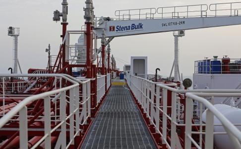 Hasan Shirvani Stena Impero, ägs av det svenska rederiet Stena Bulk. Arkivbild.