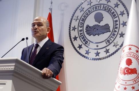 Burhan Ozbilici/AP/TT Turkiets inrikesminister Suleyman Soylu. Arkivbild